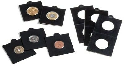 25 BLACK LIGHTHOUSE 20mm SELF ADHESIVE 2x2 COIN HOLDERS - Sixpence, 1 & 5 Cent