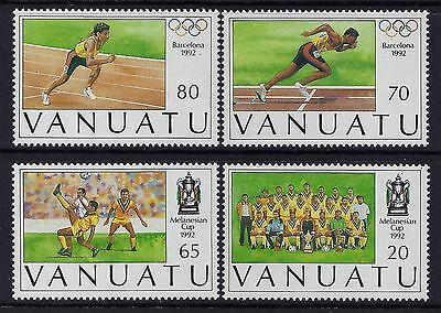 1992 Vanuatu Olympics/melanesian Football Cup Set Of 4 Fine Mint Mnh/muh