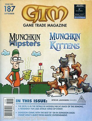 Game Trade Magazine #187 October 2015 D&D Attack Wing MUNCHKIN - Alliance