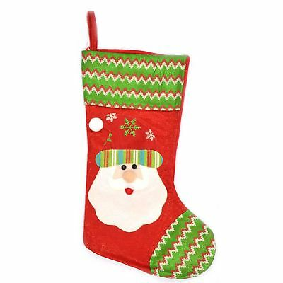 Traditional Deluxe Father Christmas Santa Sack Stocking Xmas Sock Gifts Bag