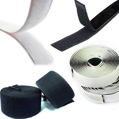 Heavy Duty Fastening Tape Self Adhesive Sticky Strip Sew On Tape Hook Loop