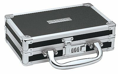 Vaultz Black Combination Lock Medicine Cash Jewlery Case Security Lock Box Safe