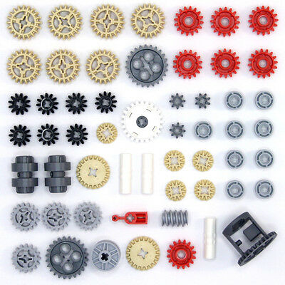 Lego Technic Gears Cogs Wheels Worms Clutch Pulley Differential - 56 Parts - NEW