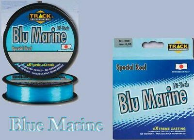 Super Monofilo Pesca Mare Surf Track Line Blue Marine 300 Mt  Made in Japan PP