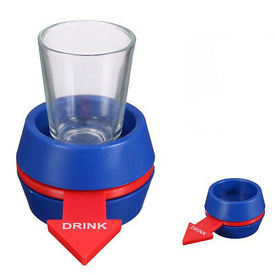 Spin The Shot Spinner Novelty fun Drinking Game After Dinner Party Include Glass