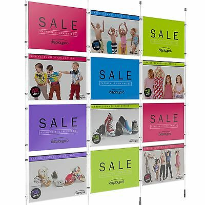 Complete Cable Display System Easy Access Poster Holder Estate Agents Shops