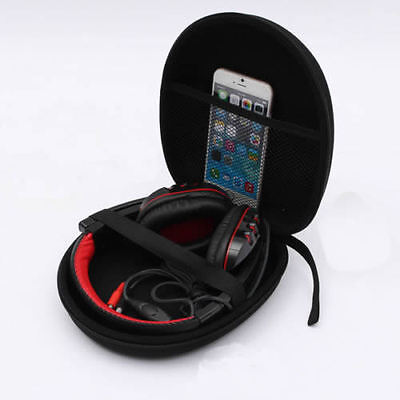 New Portable Protective Zip Up Hard Shell Case For Wireless Bluetooth Headphones