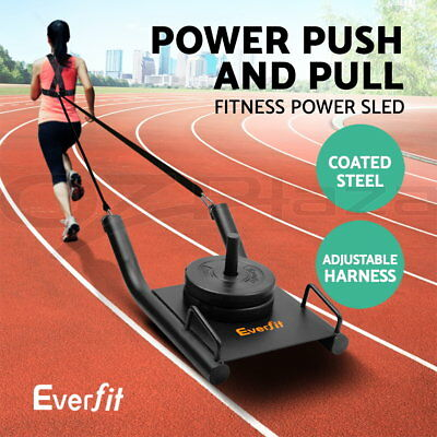 Fitness Power Sled Training Speed Weight Running Crossfit Strength Harness Band