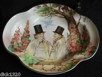ART DECO ROYAL DOULTON 11.5 LOBED FRUIT BOWL  'ZUNDAY ZMOCKS' D5680 c.1937 MINT!
