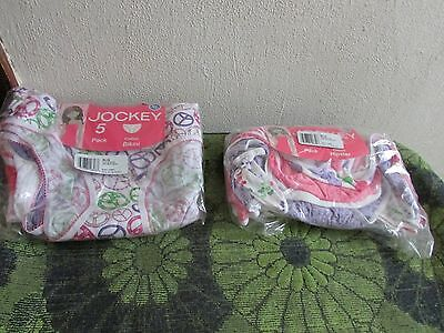 Nwt~ Girls 5 Pack Jockey Cotton Underwear. Hipsters Or Bikinis. Xl (16).  Cute
