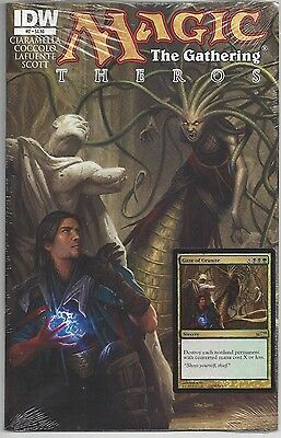 Magic The Gathering Theros #2 IDW Series with Gaze of Granite Card Included