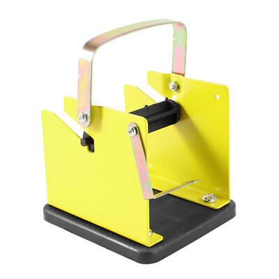 Yellow Black Plastic Metal Solder Wire Stand Holder Support Frame