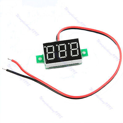Red LED DC2.5-30V Volt Voltage Meter Display Digital Voltmeter Self-Powered Mini