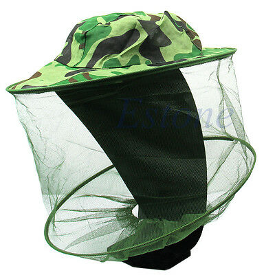 Insect Bug Bee Mosquito Resistance Net Mesh Cap Head Face Protector Sun Hat