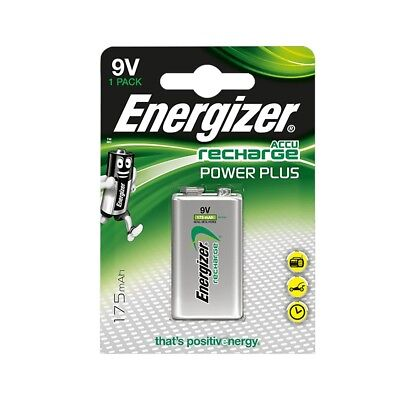 1 Pack Energizer ACCU Power Plus 9V PP3 BLOCK NiMh Rechargeable Battery 175mAh