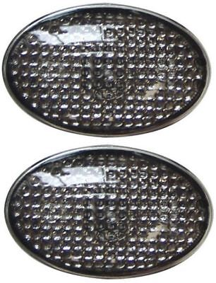 Universal Oval Side Indicators Wing Repeaters Smoked