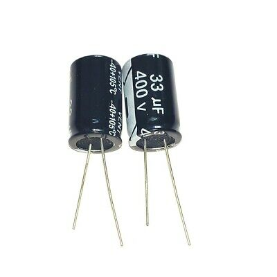 5PCS 400V 33uF 400Volt 33MFD Electrolytic Capacitor 13×20mm Radial