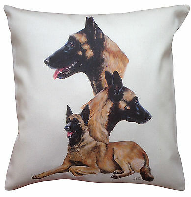 Belgian Malinois Group Breed of Dog Cotton Cushion Cover - Perfect Gift