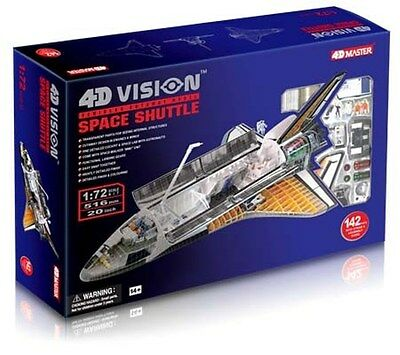 4D Master Vision 1/72 Space Shuttle Cutaway Puzzle Model Kit New