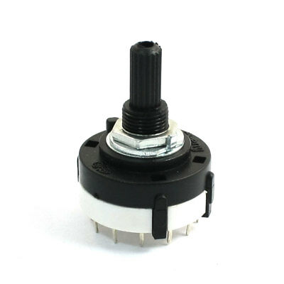 3P4T 3 Pole 4 Position 6mm Shaft Diameter Band Selector Rotary Switch