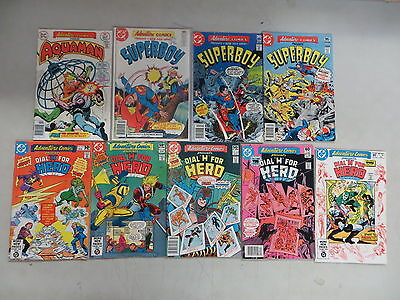 Adventure Comics 9 Issue Bronze Comic Run Lot 447-489 Dc Aquaman