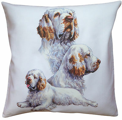 Clumber Spaniel Group Breed of Dog Cotton Cushion Cover - Perfect Gift