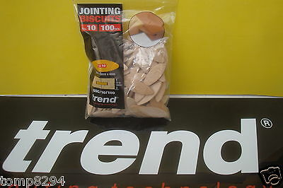 100 X Size 10 Trend Wooden Jointing Dowels Biscuits  Bsc/10/100