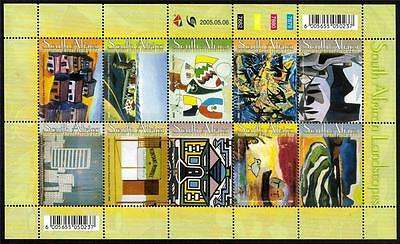 South Africa Mnh 2005 Sg1533-1542 South African Landscape Paintings Set Of 10