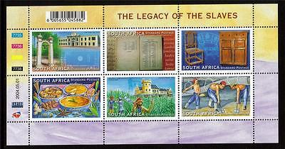 South Africa Mnh 2004 Sg1476-1481 The Legacy Of Slaves Set Of 6