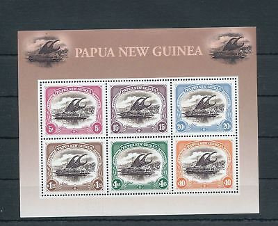 PAPUA New Guinea PNG 2002 SHIPS MNH Sheet 100 Years of Stamps(Pap148)