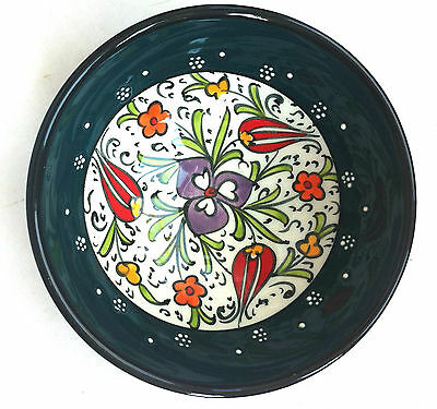 Turkish Ceramic Iznik Tile Bowl Porcelain Kutahya Art 12 cm Embossed Handmade-14