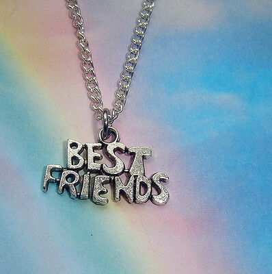 Best Friends Charm Pendant Necklace In Gift Bag Girls Friendship Jewellery
