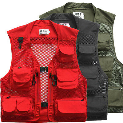Men's Quick-Dry Multi-Pocket Travelers Fishing Photography Vest Outdoor Jacket 7