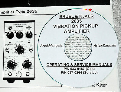 Bruel & Kjaer 2635 Vibration Amplifier, Operating & Service w/Schematics (2 Vol)