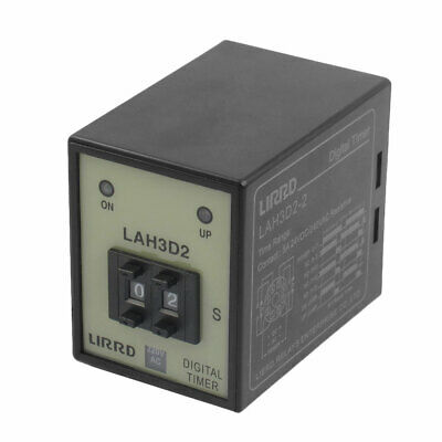 LAH3D2-2 AC 220V 50/60Hz Panel Mounting Digital Time Relay 8 Pins