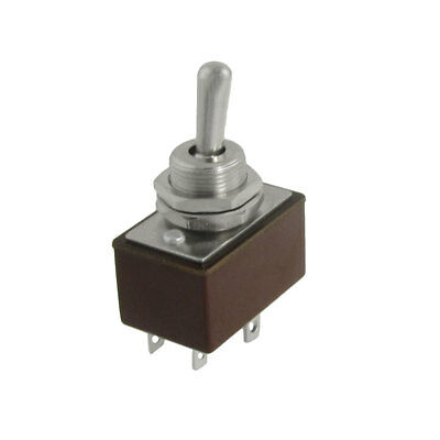AC 250V 3A On/On 2 Position 2P2T DPDT Toggle Switch 6 Terminals