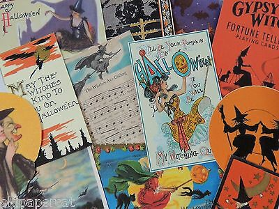 12 Pc. Set VINTAGE HALLOWEEN WITCH Witches DIE CUTS 4 CRAFTS | H58 | OPC Brand