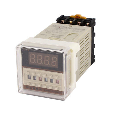 DH48S-S-2Z AC/DC24V 8P DIN Rail Digital Time Timer Delay Relay 0.1S-99H w Socket