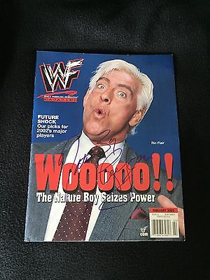 Ric Flair Signed Wwe Magazine