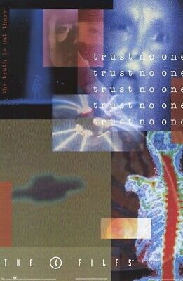 THE X FILES TRUST NO ONE POSTER TELEVISION TV A4 A3 ART PRINT DESIGN