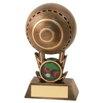 Bronze and Gold Ball Lawn Bowls Trophy Free Engraving