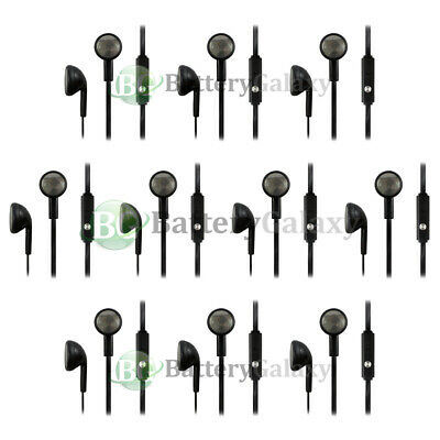 10 Black Headphone Earphone Headset Earbuds for Samsung Galaxy S4 S5 Mini Active