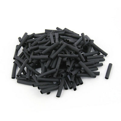 200pcs Wrap Wire Black 4mm Dia Heat Shrink Tube Sleeving 30mm Length 2:1