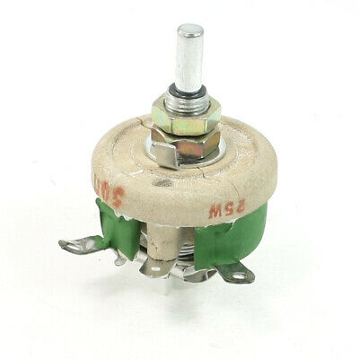 Ceramic Tray Adjustable Wirewound Resistor Rheostat 25W 50 Ohm