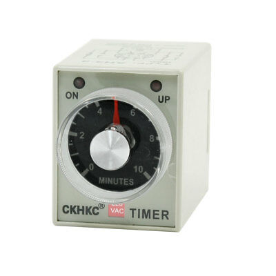 AH3-3 AC 220V Delay Timer Time Timing Relay Adjustable 0-10 Minutes