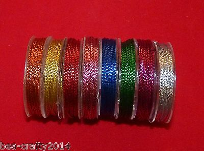 9M Metallic Jewellery Making Thread/Cord - Assorted Colours# Craft/Jewellery