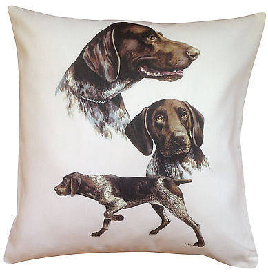 German Shorthaired Pointer Group Dog Cotton Cushion Cover - Perfect Gift