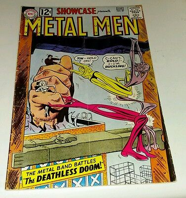 Dc comics showcase 39 silver age 3rd appearance the metal men 1962 1st chemo