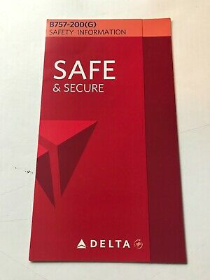 Delta Airlines Emergency Card For B-737 (Dated 6/12)