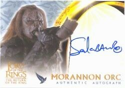 Lord of the Rings Return of the King Sala Baker as Morannon Orc Autograph Card